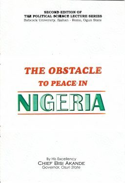 The Obstacle to Peace in Nigeria