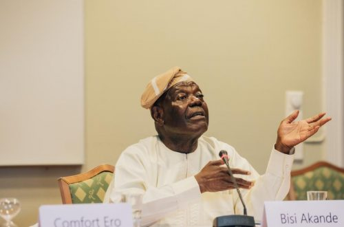 Chief Akande at the Oslo forum