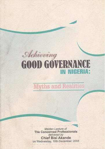 Achieving Good Governance in Nigeria