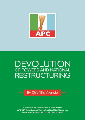 Devolution of Powers National Restructuring