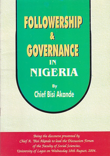 Followership and Governance in Nigeria