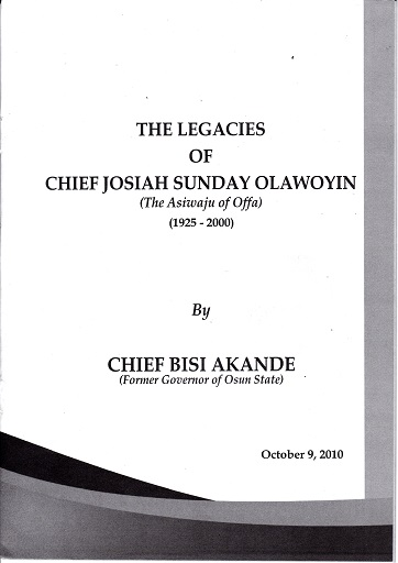 The Legacies of JS Olawoyin
